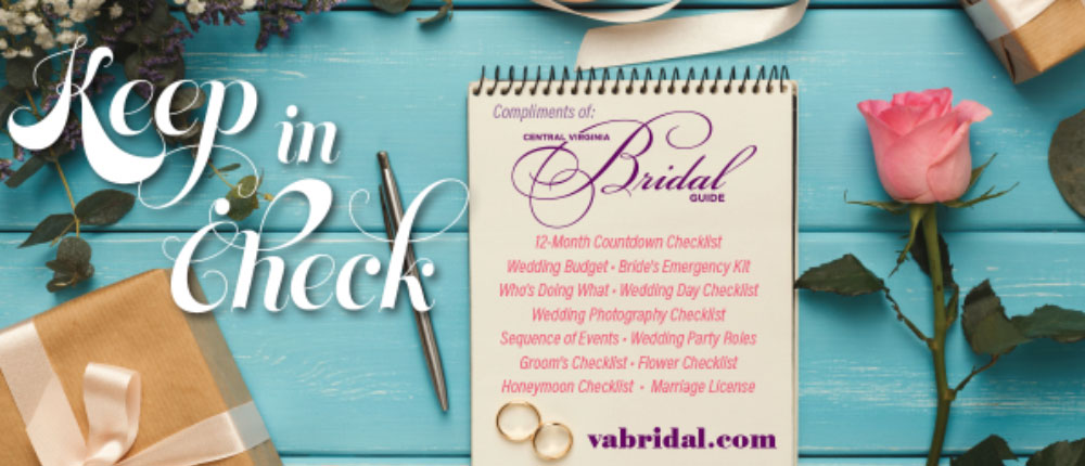 Central Virginia Bridal Guide Checklist